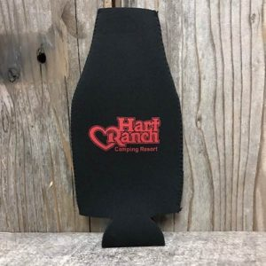 Zip Bottle Koozie Black