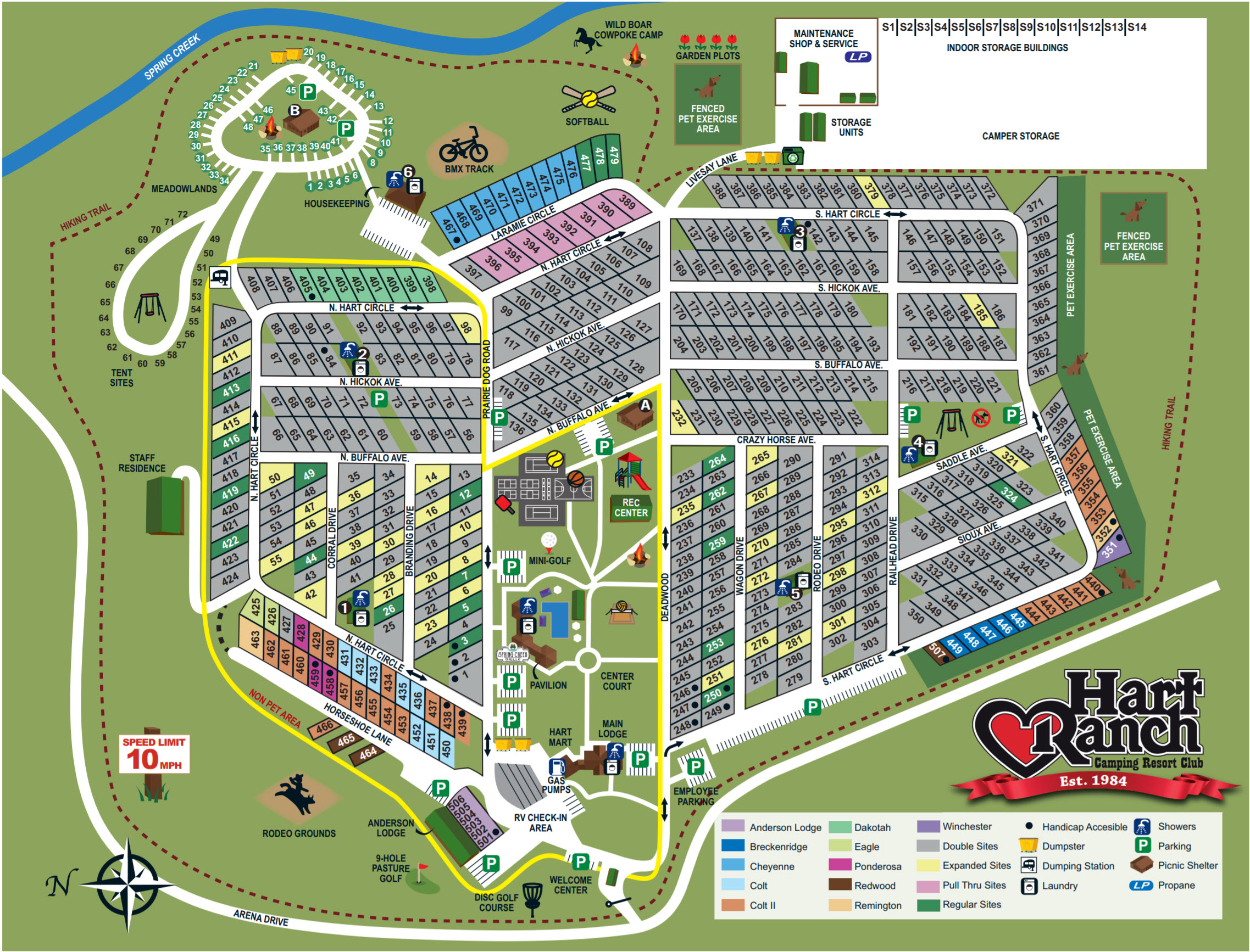 Hart Ranch Campground Map