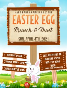 Egg Hunt Flyer Activities Calendar