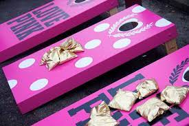 Pink Cornhole Board
