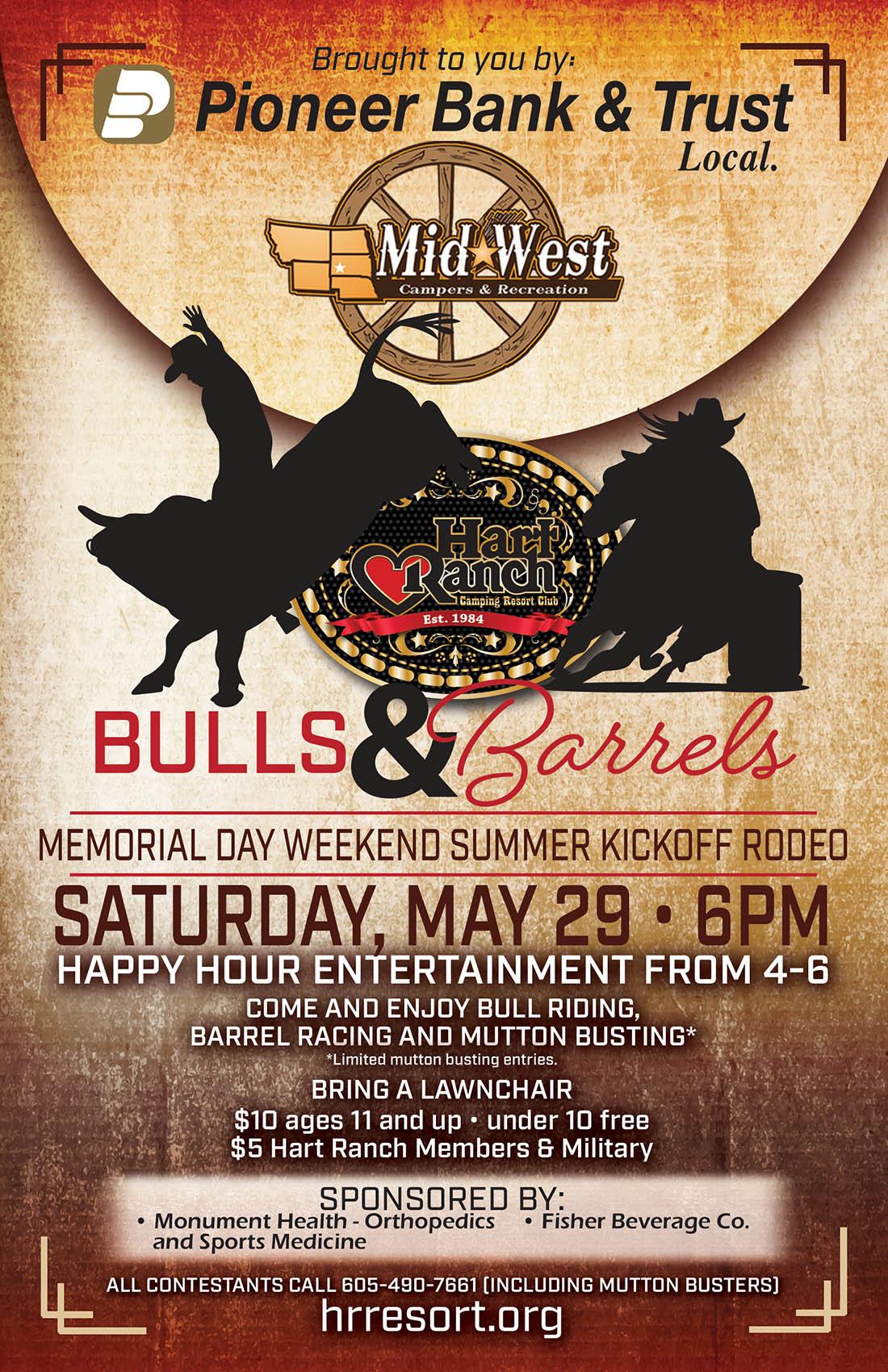 Hart Ranch Bulls And Barrels Memorial Day Rodeo