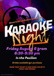 Copy Of Karaoke Night Flyer Made With Postermywall Activities Calendar