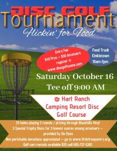2021.10.16 Disc Golf Tournament Activities Calendar