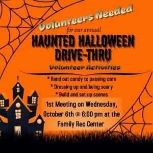 Halloween Volunteer Flyer Activities Calendar