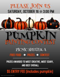 Pumpkin Painting Activities Calendar
